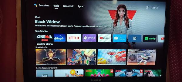 Vamos experimentar a interface GOOGLE TV no nosso ANDROID TV?