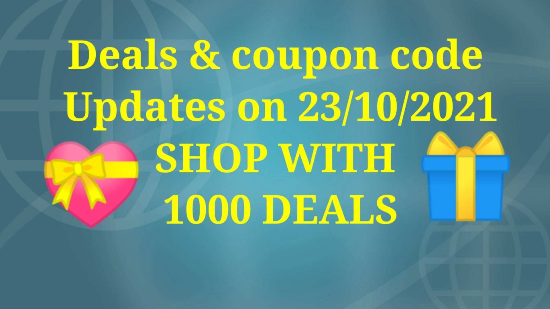 Best deals & coupon code of the day updates on 23/10/2021