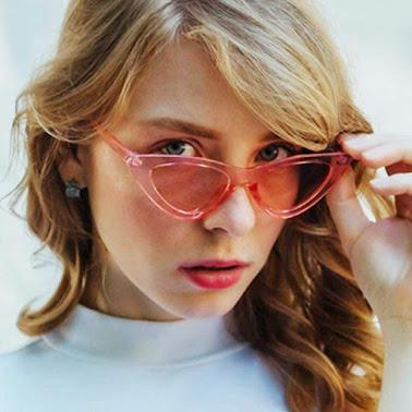 Pink Cheap Cat Eye Sunglasses