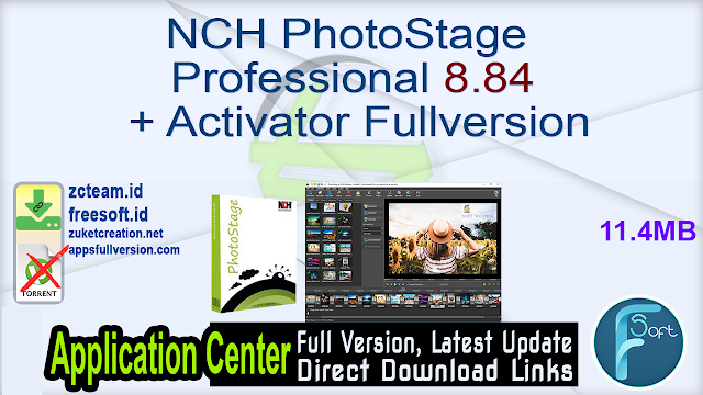 NCH PhotoStage Professional 8.84 + Activator Fullversion