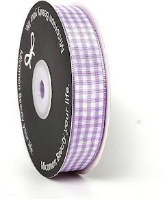 Pretty Purple Plaid Gingham Ribbons For All Crafting Projects