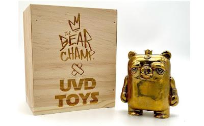 "The Bear Champ 4"" Bronze Figure by JC Rivera x UVD Toys"