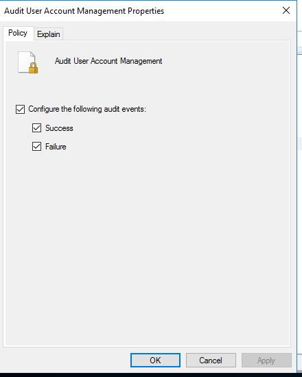 Audit User Account Management
