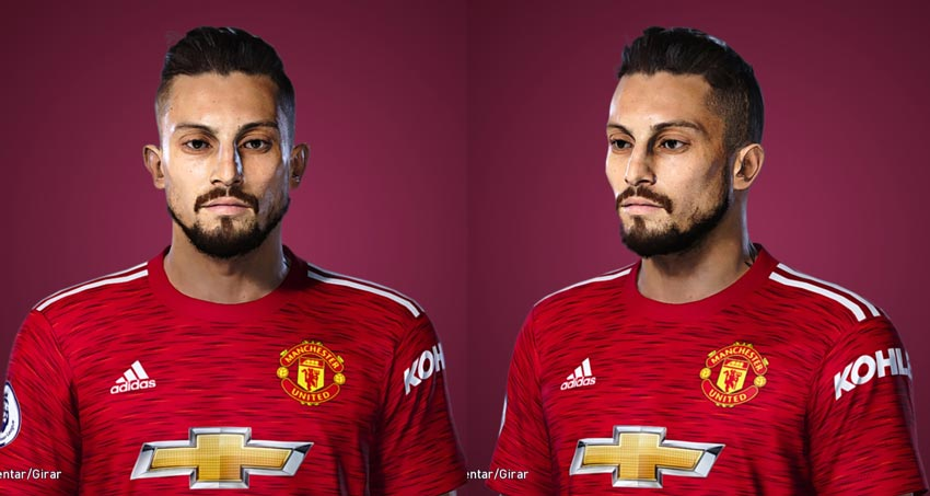 Alex Telles Face For eFootball PES 2021