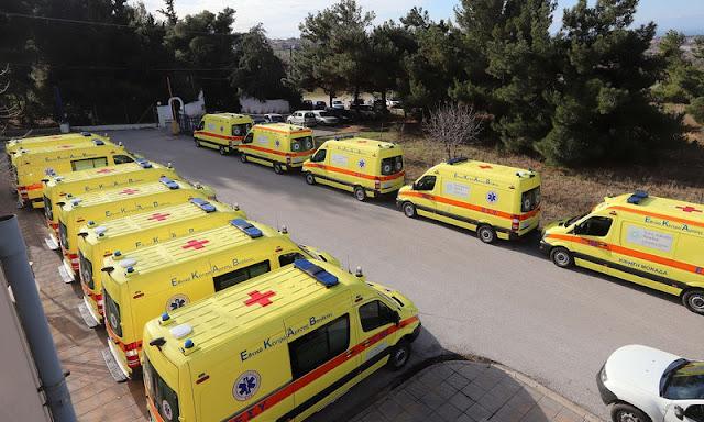 Ενισχύεται με 26 ασθενοφόρα το ΕΚΑΒ στην ΑΜΘ