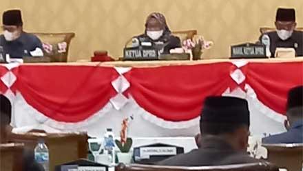 DPRD Kota Sawahlunto Setujui Perubahan APBD TA 2021