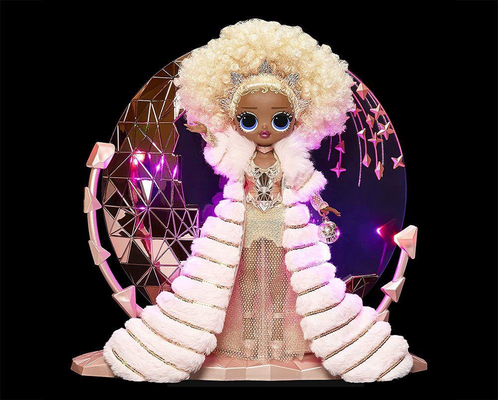 Новогодняя кукла L.O.L. O.M.G. Nye Queen на светящейся подставке