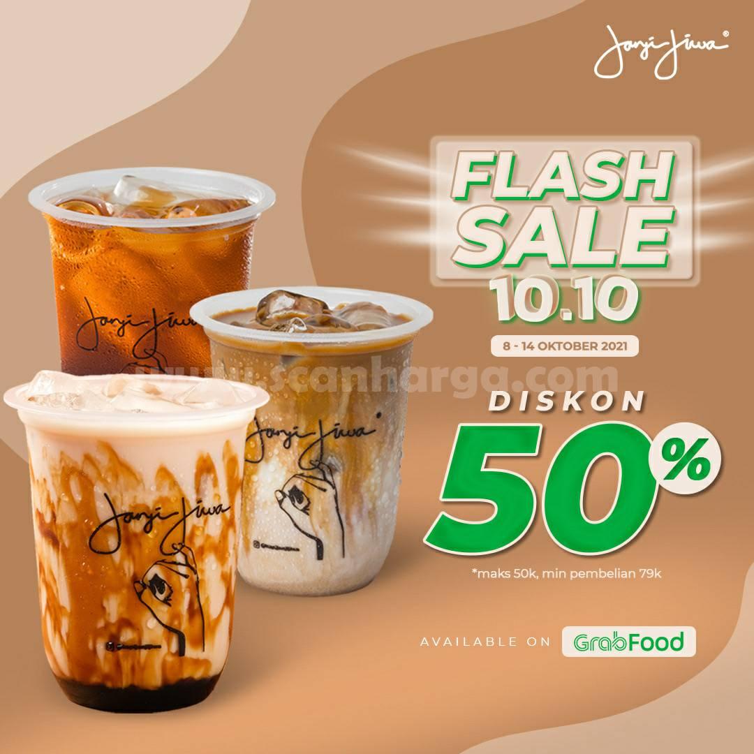 Promo KOPI JANJI JIWA Flash Sale 10.10 DISKON 50% via GRABFOOD