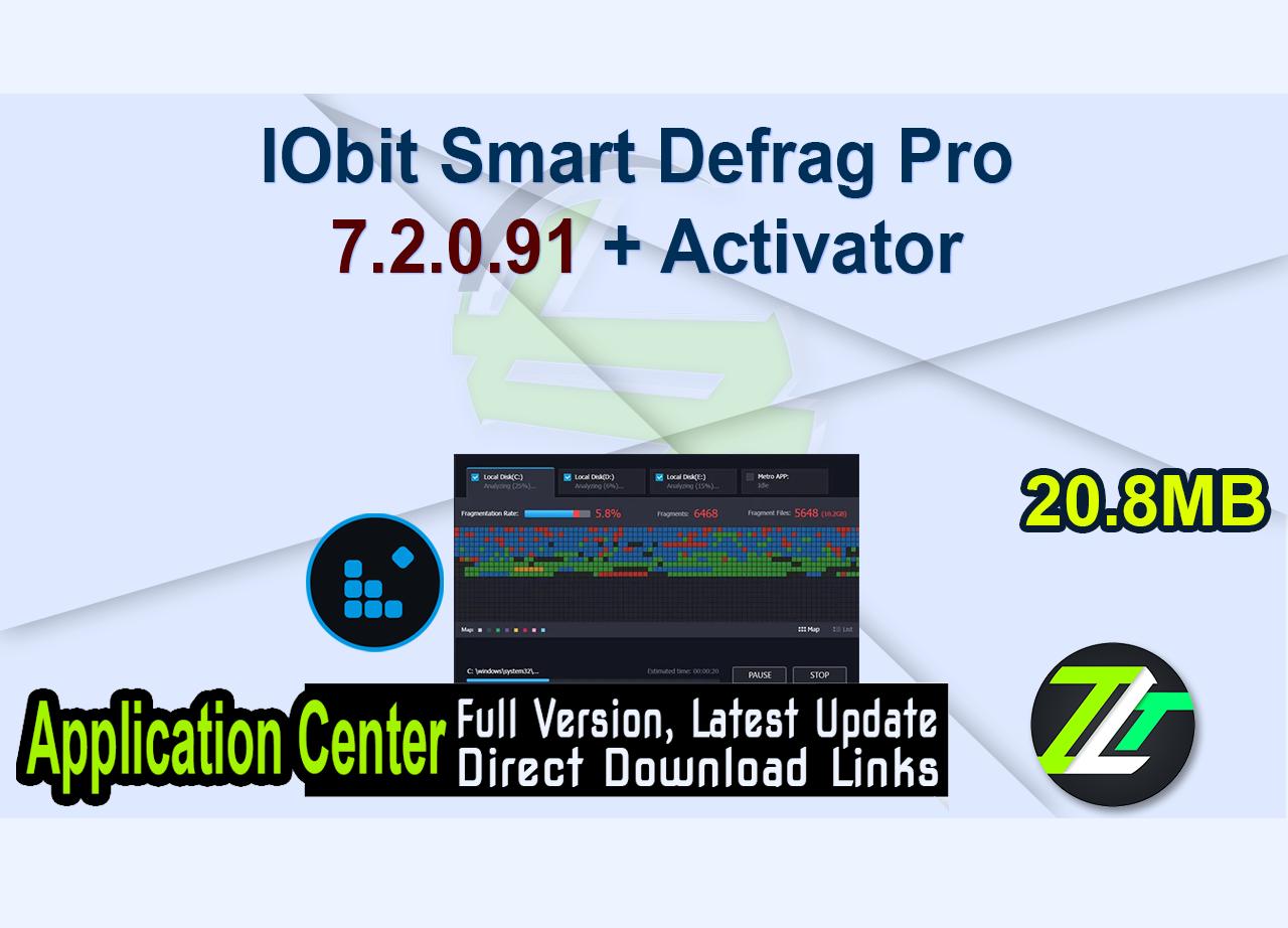 IObit Smart Defrag Pro 7.2.0.91 + Activator