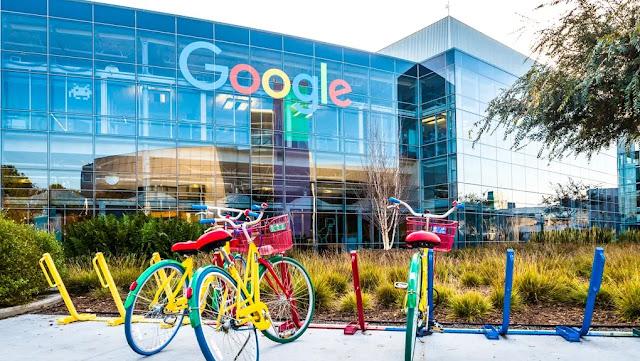Google at headquarters in Menlo Park, California, USA