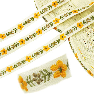 Flower Jacquard Ribbons For Embellishment Craft Supplies