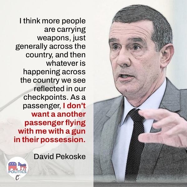 I think more people are carrying weapons, just generally across the country, and then whatever is happening across the country we see reflected in our checkpoints. As a passenger, I don't want a another passenger flying with me with a gun in their possession. — TSA Administrator David Pekoske