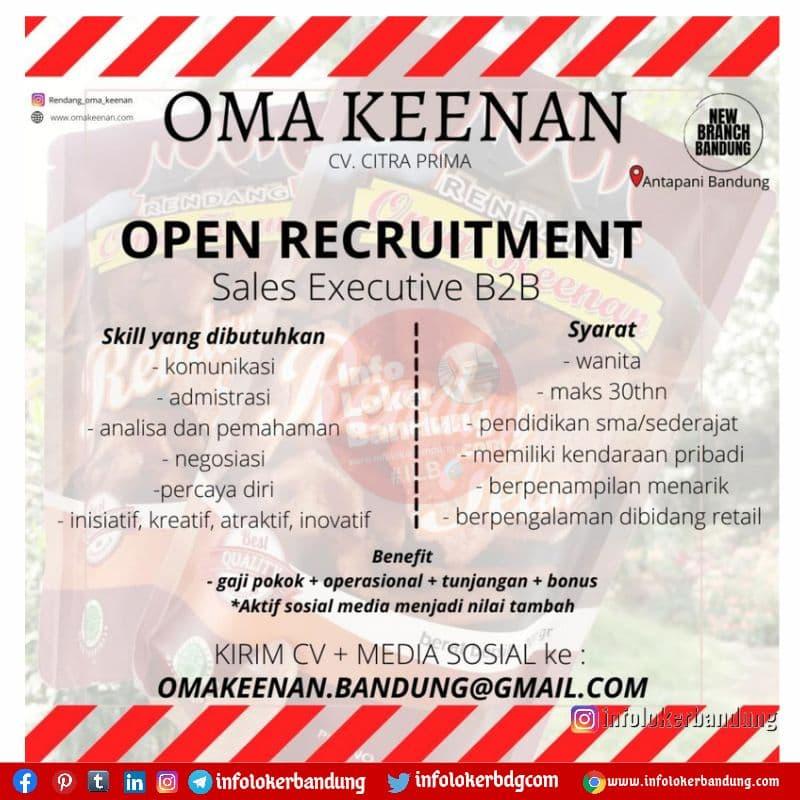 Lowongan Kerja Oma Keenan Bandung Oktober 2021
