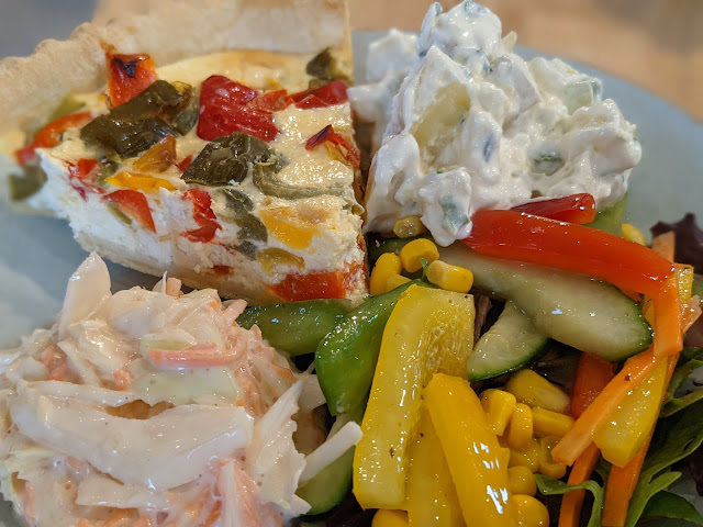 An Alternative Day Out in Cumbria | Ideas for Places to Visit - Healthy lunch at Carlisle Cathedral Cafe