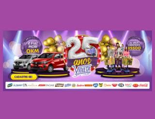 Aniversário 2021 Violeta 25 Anos Supermercados