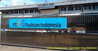 Lowongan Kerja PT. KG Fashion indonesia Sukabumi Terbaru