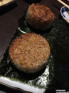 The solid lobster salmon and mentaiko grilled rice balls