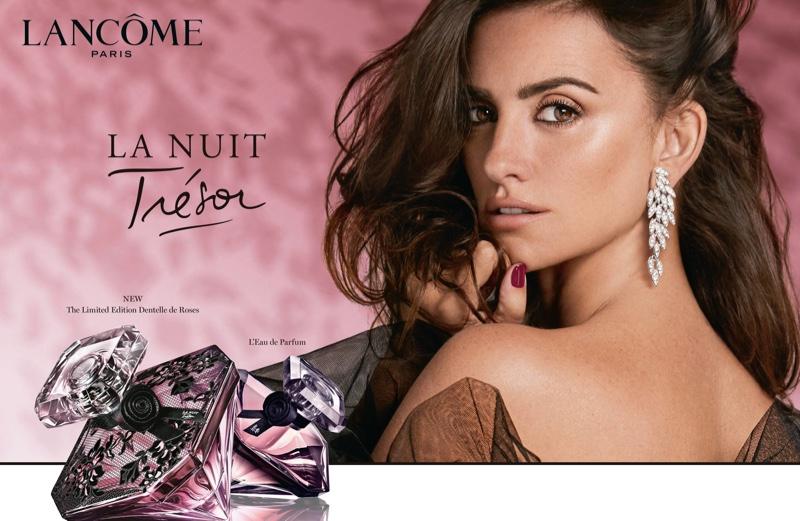 Penelope Cruz stars in Lancome La Nuit Trésor L'Eau de Parfum campaign. Photo: Hunter & Gatti