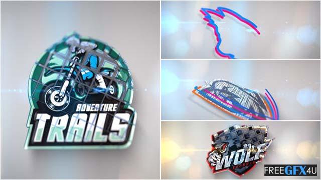 3D Line Logo Reveal