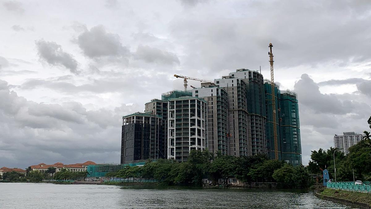 Tiến độ thi công dự án Sun Grand City Quảng An 7/2021