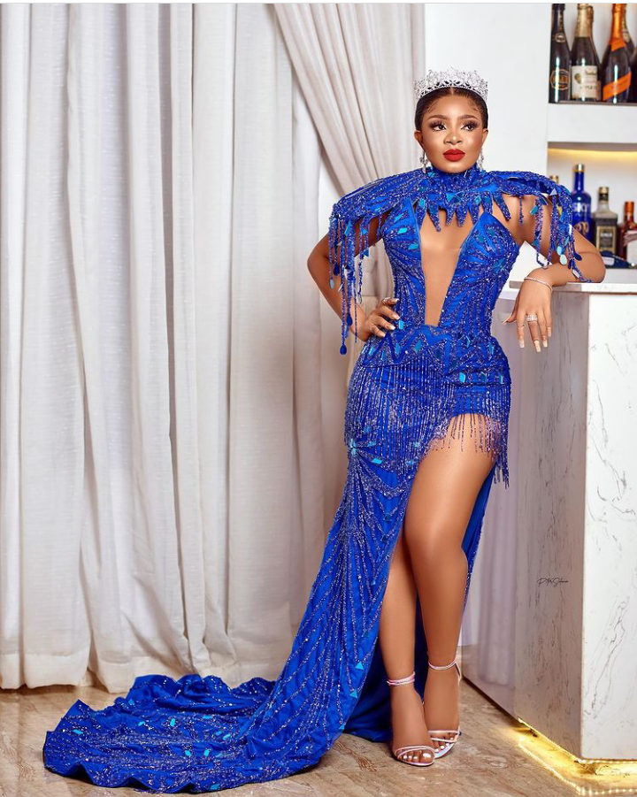 BBNaija: My crown isn't invisible - Queen claims as she rocks a trending outfit (See pictures)