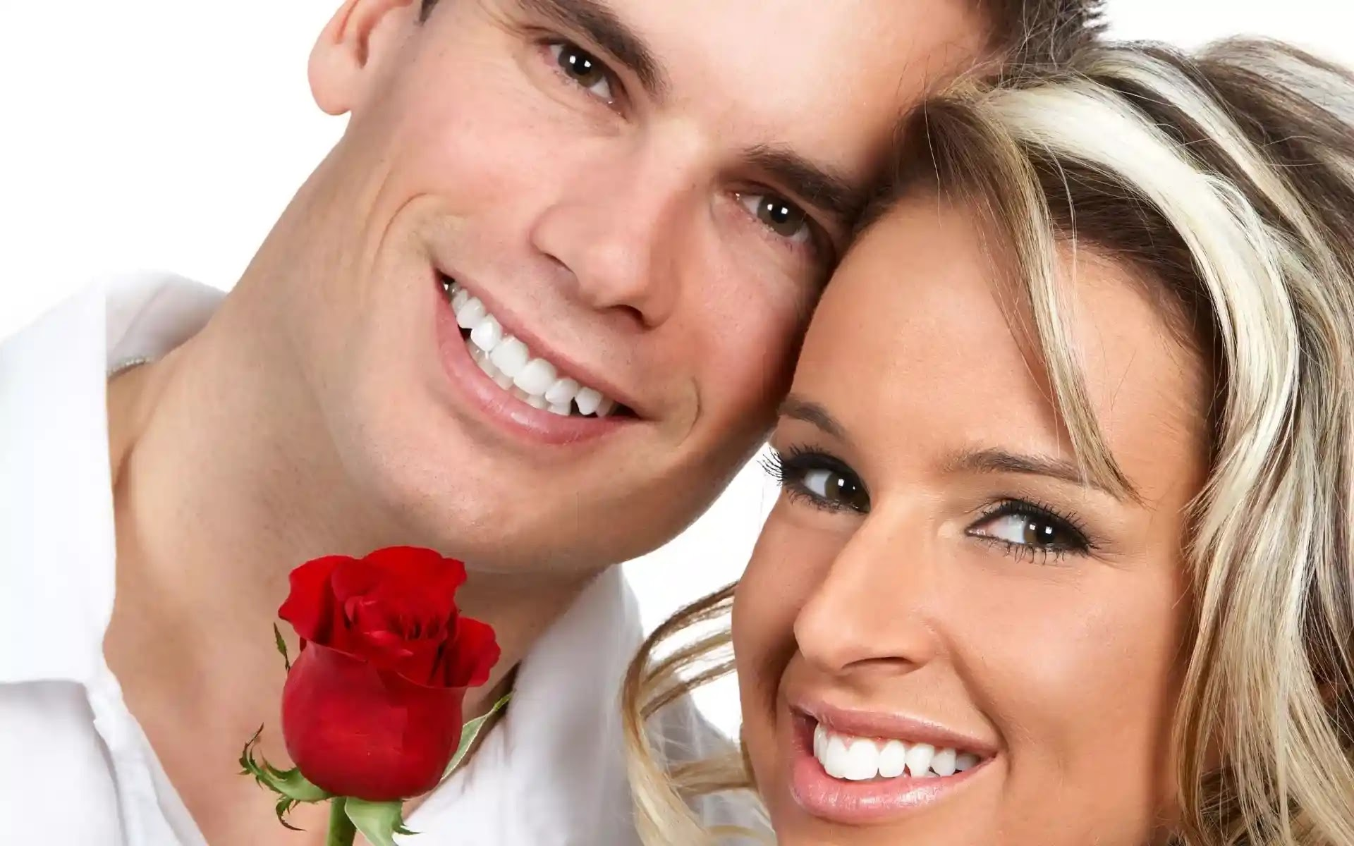 couple with rose image
