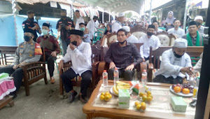 Pedagang Pasar Baru Indramayu Memperingati PHBI Maulid Nabi Muhamad SAW 1443 H di Hadiri Lucky Hakim