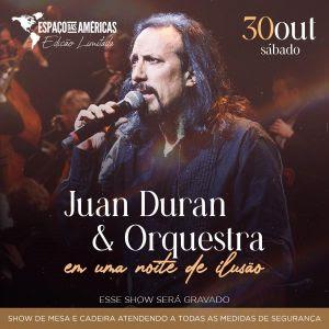 Juan Duran apresenta espetáculo com música e ilusionismo no Espaço das Américas
