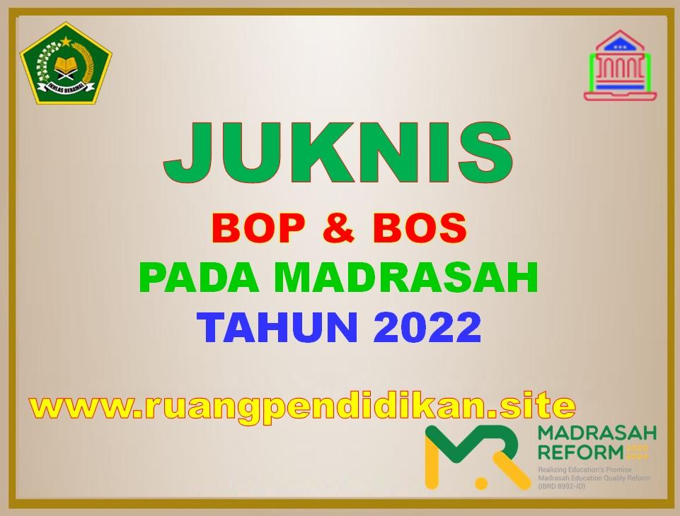 Juknis Pengelolaan BOP Dan BOS Madrasah