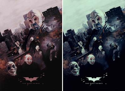 "New York Comic Con 2021 Exclusive Batman ""The Dark Knight"" Screen Print by Chris Valentine x Bottleneck Gallery"