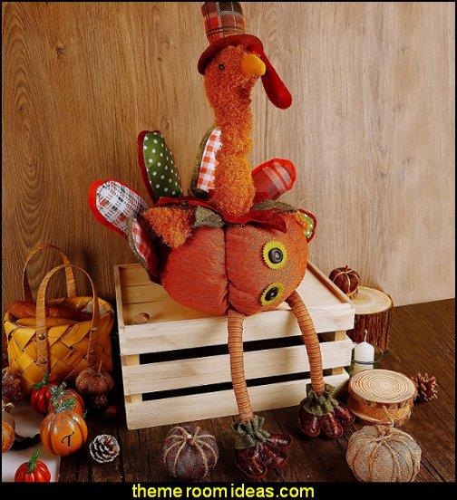 Thanksgiving Turkey Decoration  plush Turkey for Autumn Fall Thanksgiving