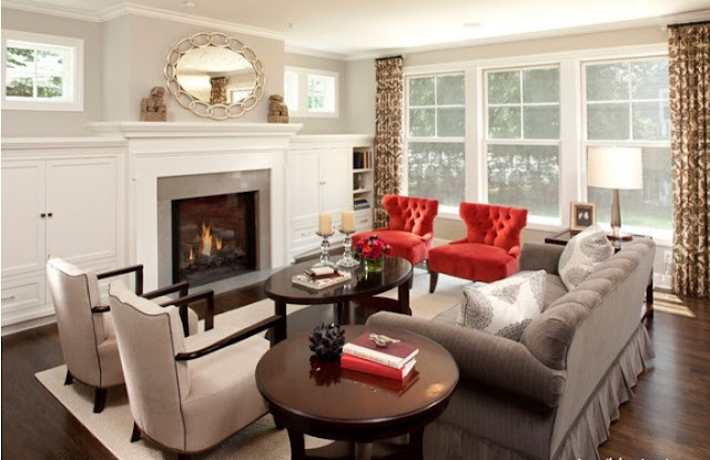 red sopa living room decorating ideas