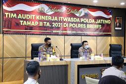 Tim Itwasda Polda Jateng Lakukan Audit Kinerja di Polres Brebes