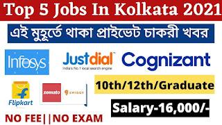 Top 5 Jobs In Kolkata 2021 | Jobs In Kolkata 2021 | Freshers Jobs Kolkata | Apply Now