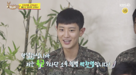 Chanyeol makes a surprise appearance on TV to promote army musical