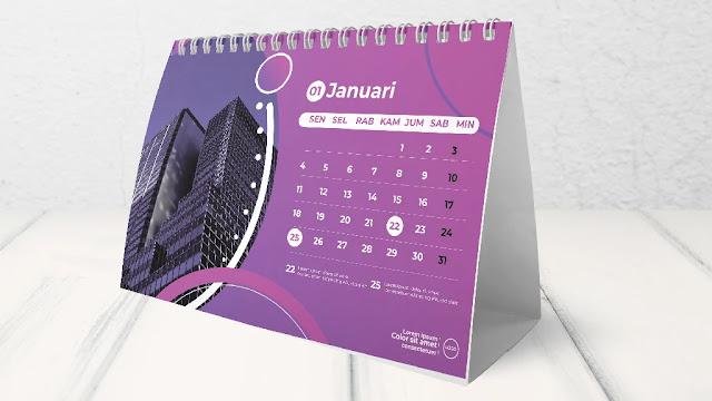 Download Kumpulan Template Kalender Meja 2021 CDR