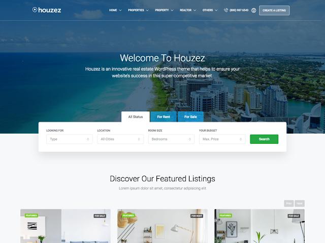 Houzez   7+ Best WordPress Themes For Real Estate Company