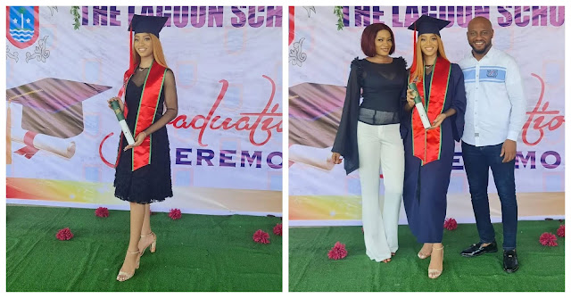 Actor Yul Edochie celebrates his daughter, Danielle who just graduated from secondary school (Photos)