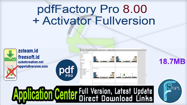 pdfFactory Pro 8.00 + Activator Fullversion