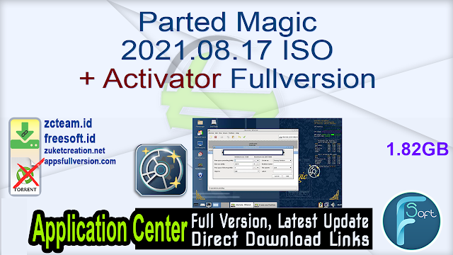 Parted Magic 2021.08.17 ISO + Activator Fullversion