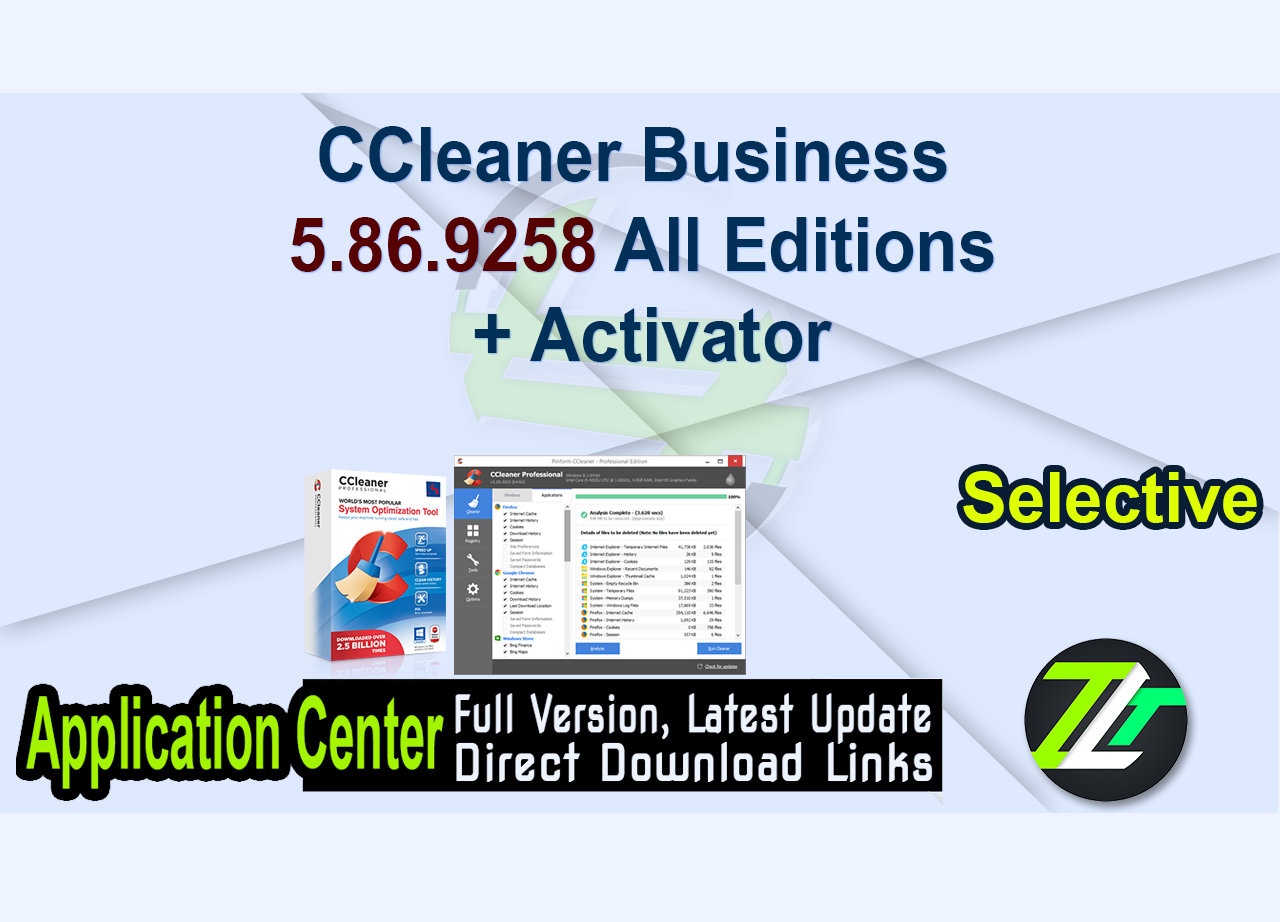 CCleaner Business 5.86.9258 All Editions + Activator
