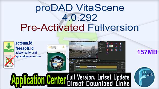 proDAD VitaScene 4.0.292 Pre-Activated Fullversion