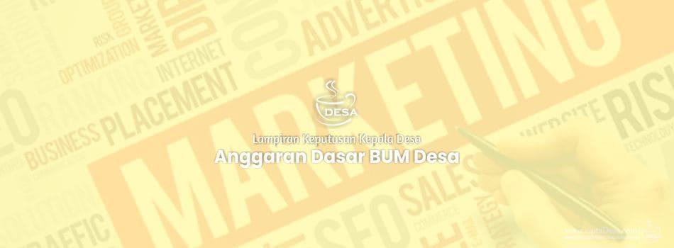 Lampiran SK Penetapan AD/ART BUM Desa