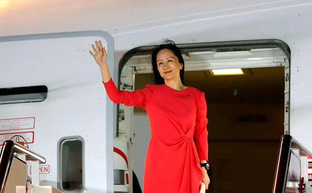 Meng Wanzhou returned to China on September 25. (Photo: CNN)