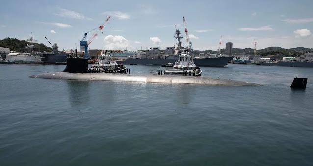 The nuclear submarine USS Connecticut docked at the port of Yokosuka, Japan on July 31, 2021. Photo: US Navy