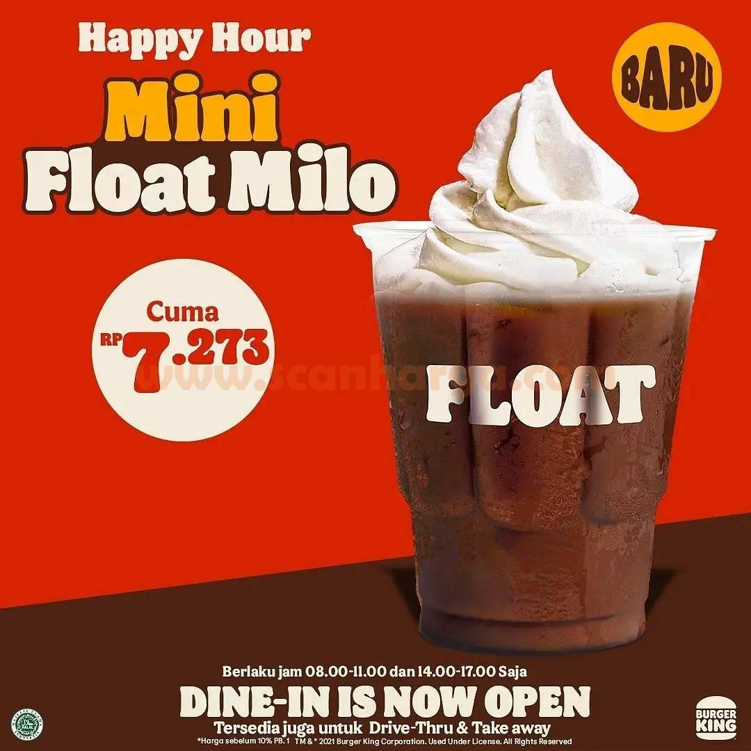 Promo Burger King Happy Hour Mini Float Milo harga cuma Rp. 7.273