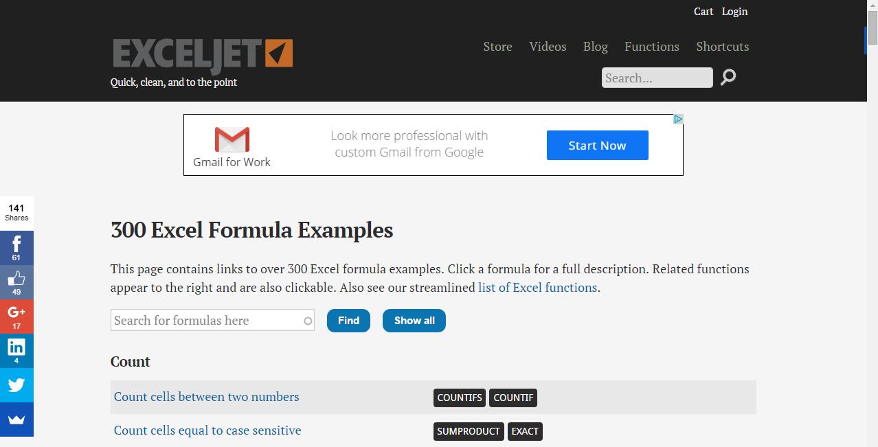 موقع مميز ومرجع شامل لمعادلات الإكسل مع شرح كل معادلة