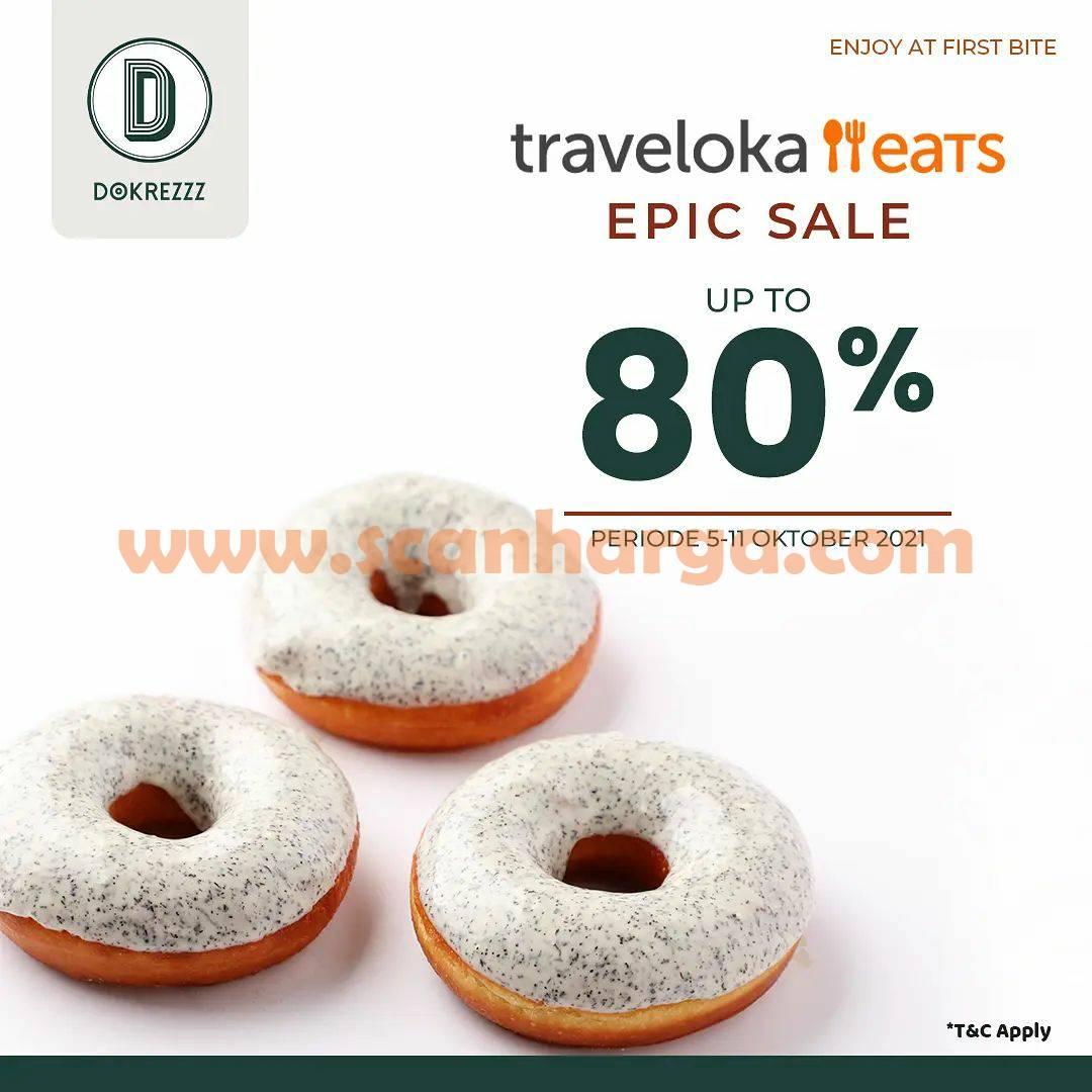 DOKREZZZ Promo Traveloka Eats Epic Sale Discount up to 80%