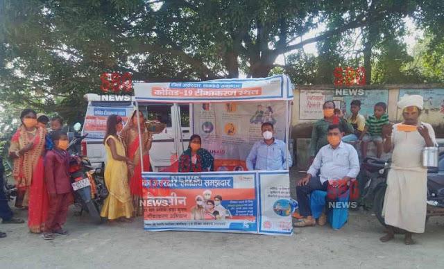 मेला का मेला, टीकाकरण का टीकाकरण : पूजा पंडालों पर वैक्सीनेशन कैंप की रही व्यवस्था