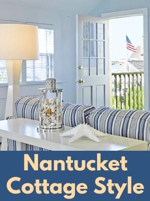 Nantucket New England Beach Cottage Style Interior Decor Design Ideas
